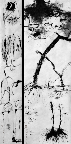 NATURE SCRIPTURES Series: Forest Impressions, Ink on Tyvek